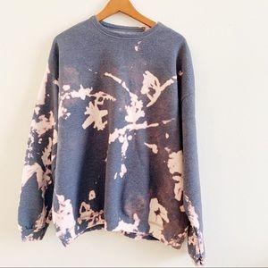 Bleach tie dye sweater
